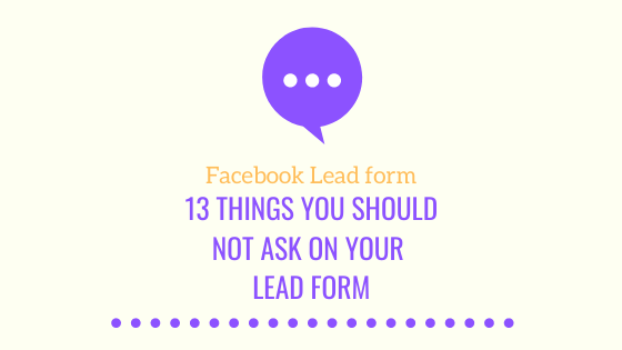 Facebook Lead form