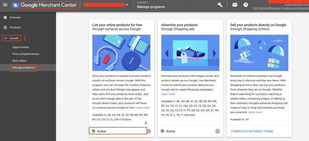 Google Merchant Free Lisitings